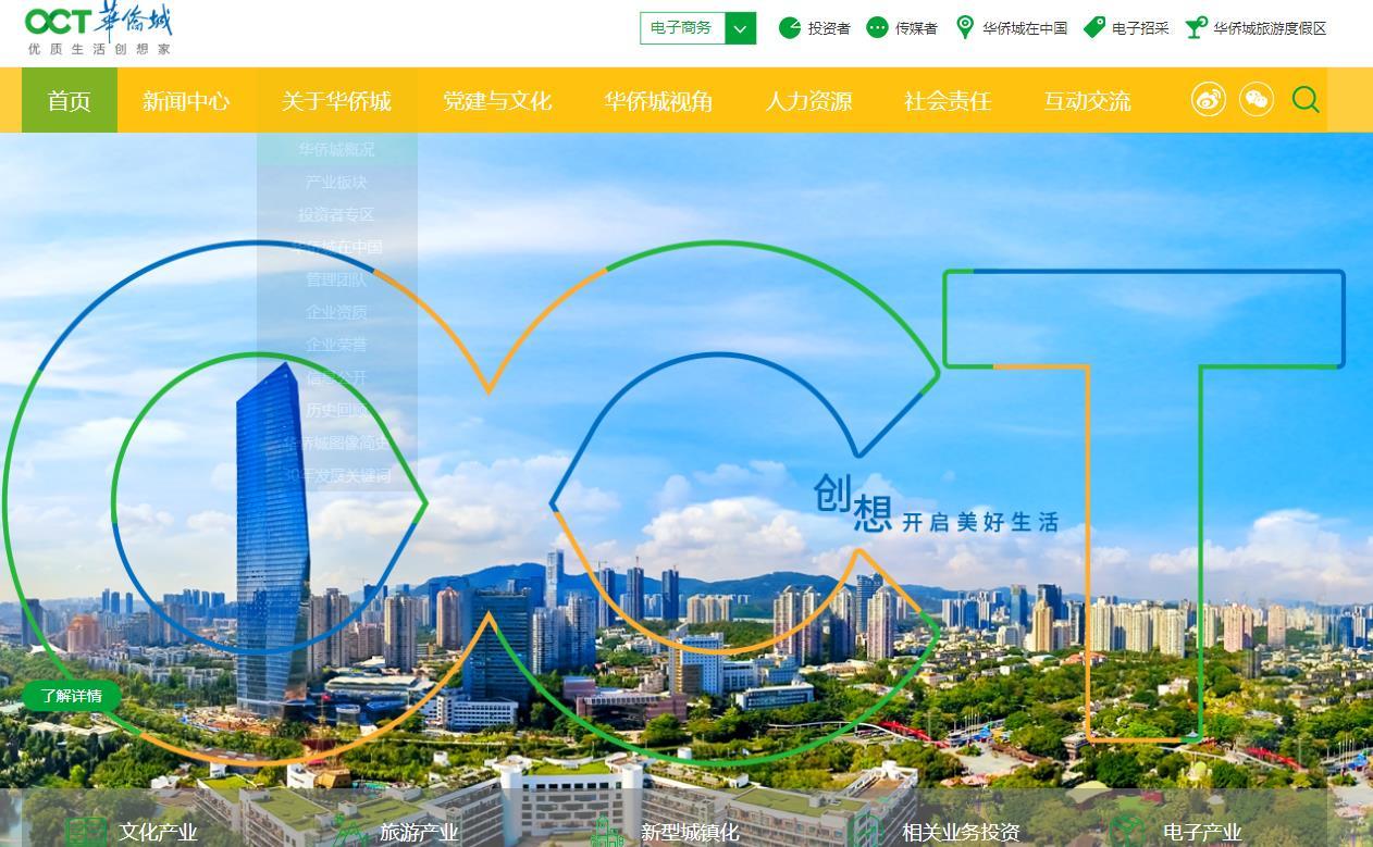 粤港澳大湾区名企:华侨城集团有限公司
