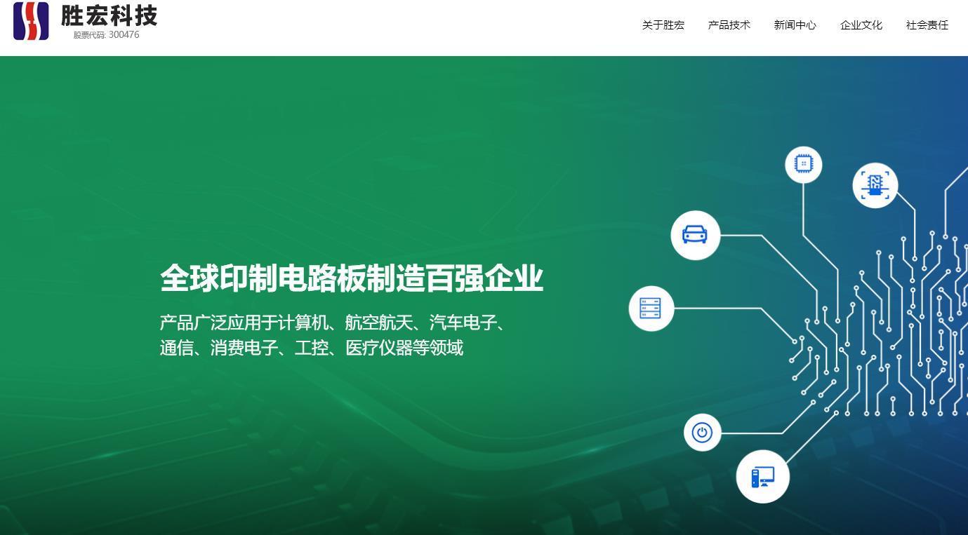 胜宏科技扩建厂房生产内加压工序线路板项目投资 90000.0万元